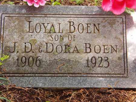 BOEN, LOYAL - Pope County, Arkansas | LOYAL BOEN - Arkansas Gravestone Photos