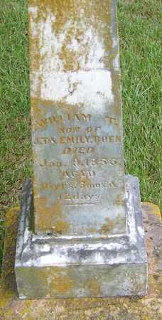 BOEN, WILLIAM T - Pope County, Arkansas | WILLIAM T BOEN - Arkansas Gravestone Photos