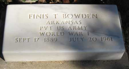 BOWDEN  (VETERAN WWI), FINIS T - Pope County, Arkansas | FINIS T BOWDEN  (VETERAN WWI) - Arkansas Gravestone Photos
