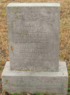 BRANCH, KAREN WALLACE - Pope County, Arkansas | KAREN WALLACE BRANCH - Arkansas Gravestone Photos