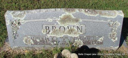 BROWN, CAPITOLIA - Pope County, Arkansas | CAPITOLIA BROWN - Arkansas Gravestone Photos