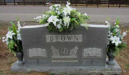 BROWN, CECIL L - Pope County, Arkansas | CECIL L BROWN - Arkansas Gravestone Photos