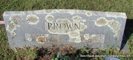 BROWN, EDWARD G - Pope County, Arkansas | EDWARD G BROWN - Arkansas Gravestone Photos