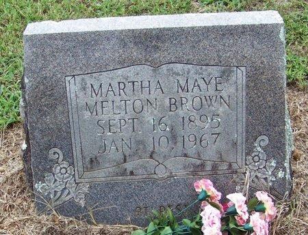BROWN, MARTHA MAYE - Pope County, Arkansas | MARTHA MAYE BROWN - Arkansas Gravestone Photos