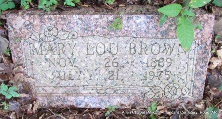 BROWN, MARY LOU - Pope County, Arkansas | MARY LOU BROWN - Arkansas Gravestone Photos