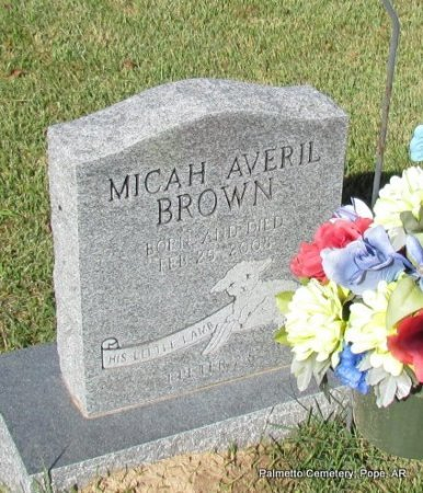 BROWN, MICHAH AVERIL - Pope County, Arkansas | MICHAH AVERIL BROWN - Arkansas Gravestone Photos