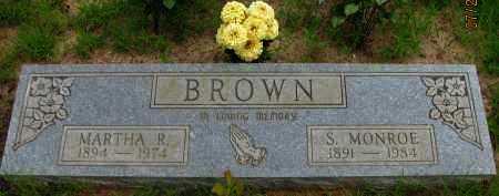 BROWN, S  MONROE - Pope County, Arkansas | S  MONROE BROWN - Arkansas Gravestone Photos