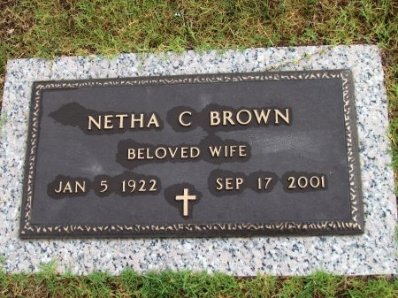 BROWN, NETHA C. - Pope County, Arkansas | NETHA C. BROWN - Arkansas Gravestone Photos