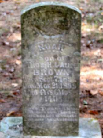 BROWN, NOAH - Pope County, Arkansas | NOAH BROWN - Arkansas Gravestone Photos