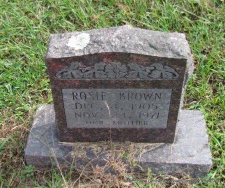 BROWN, ROSIE - Pope County, Arkansas   ROSIE BROWN - Arkansas Gravestone Photos