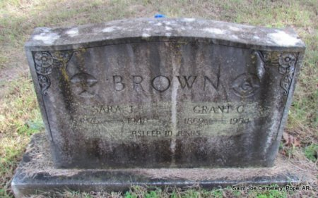 BROWN, SARA J - Pope County, Arkansas | SARA J BROWN - Arkansas Gravestone Photos