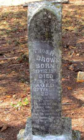 BROWN, THOMAS H - Pope County, Arkansas | THOMAS H BROWN - Arkansas Gravestone Photos