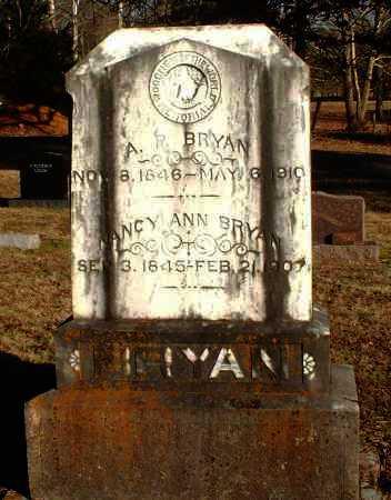 BRYAN, A  P - Pope County, Arkansas   A  P BRYAN - Arkansas Gravestone Photos