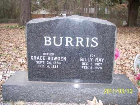 BOWDEN BURRIS, GRACE - Pope County, Arkansas | GRACE BOWDEN BURRIS - Arkansas Gravestone Photos
