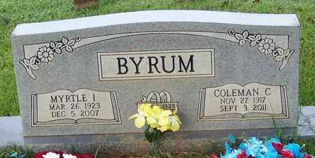 BYRUM, MYRTLE I - Pope County, Arkansas | MYRTLE I BYRUM - Arkansas Gravestone Photos