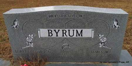 BYRUM, JAMES WALLACE - Pope County, Arkansas | JAMES WALLACE BYRUM - Arkansas Gravestone Photos