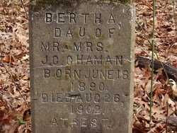 CHAMAN, BERTHA - Pope County, Arkansas | BERTHA CHAMAN - Arkansas Gravestone Photos