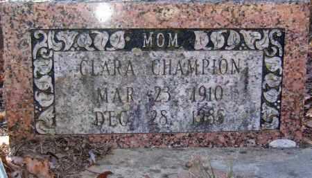 CHAMPION, CLARA - Pope County, Arkansas | CLARA CHAMPION - Arkansas Gravestone Photos