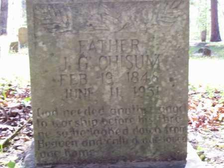 CHISUM (VETERAN CSA), JOHN G - Pope County, Arkansas   JOHN G CHISUM (VETERAN CSA) - Arkansas Gravestone Photos