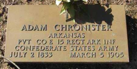CHRONISTER  (VETERAN CSA), ADAM - Pope County, Arkansas | ADAM CHRONISTER  (VETERAN CSA) - Arkansas Gravestone Photos