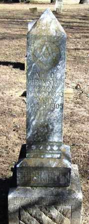 CHRONISTER, ADAM D - Pope County, Arkansas | ADAM D CHRONISTER - Arkansas Gravestone Photos