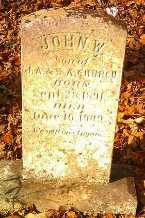 CHURCH, JOHN W. - Pope County, Arkansas   JOHN W. CHURCH - Arkansas Gravestone Photos