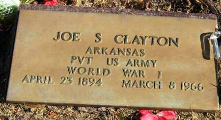 CLAYTON  (VETERAN WWI), JOE S - Pope County, Arkansas | JOE S CLAYTON  (VETERAN WWI) - Arkansas Gravestone Photos