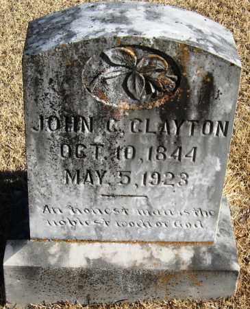 CLAYTON (VETERAN CSA), JOHN C - Pope County, Arkansas   JOHN C CLAYTON (VETERAN CSA) - Arkansas Gravestone Photos