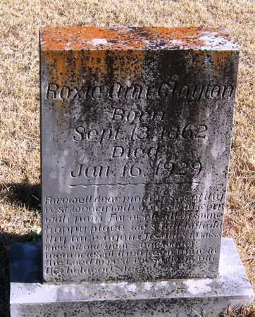 CLAYTON, ROXIE ANN - Pope County, Arkansas   ROXIE ANN CLAYTON - Arkansas Gravestone Photos