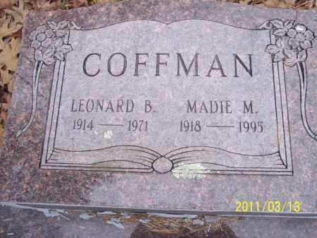 COFFMAN, LEONARD B. - Pope County, Arkansas   LEONARD B. COFFMAN - Arkansas Gravestone Photos