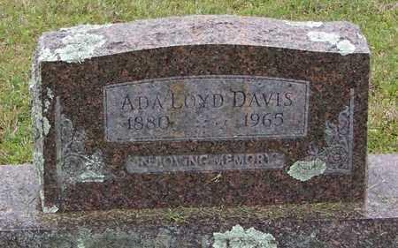 DAVIS, ADA - Pope County, Arkansas   ADA DAVIS - Arkansas Gravestone Photos
