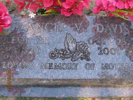 DAVIS, FRANCIS V - Pope County, Arkansas   FRANCIS V DAVIS - Arkansas Gravestone Photos