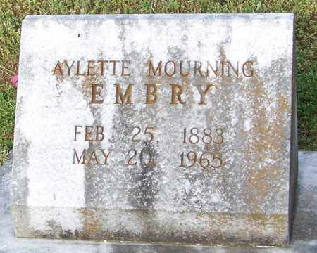 EMBRY, AYLETTE MOURNING - Pope County, Arkansas | AYLETTE MOURNING EMBRY - Arkansas Gravestone Photos