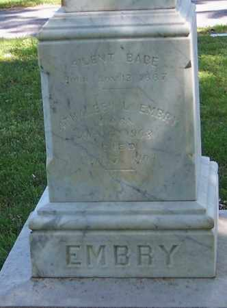 EMBRY, INFANT (CLOSE UP) - Pope County, Arkansas | INFANT (CLOSE UP) EMBRY - Arkansas Gravestone Photos