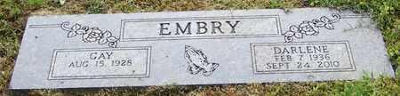 EMBRY, DARLENE - Pope County, Arkansas   DARLENE EMBRY - Arkansas Gravestone Photos