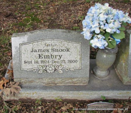 EMBRY, JAMES SNOOK (CLOSE UP) - Pope County, Arkansas | JAMES SNOOK (CLOSE UP) EMBRY - Arkansas Gravestone Photos