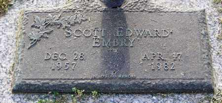 EMBRY, SCOTT EDWARD - Pope County, Arkansas | SCOTT EDWARD EMBRY - Arkansas Gravestone Photos