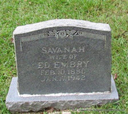EMBRY, SAVANAH - Pope County, Arkansas | SAVANAH EMBRY - Arkansas Gravestone Photos