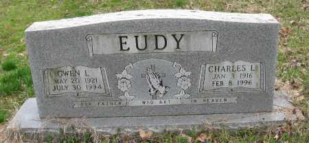 EUDY, CHARLES L - Pope County, Arkansas | CHARLES L EUDY - Arkansas Gravestone Photos