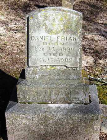 FRIAR (VETERAN CSA), DANIEL - Pope County, Arkansas | DANIEL FRIAR (VETERAN CSA) - Arkansas Gravestone Photos