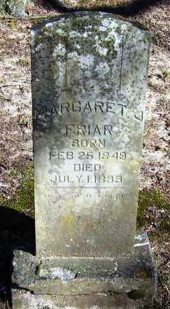 FRIAR, MARGARET J - Pope County, Arkansas | MARGARET J FRIAR - Arkansas Gravestone Photos