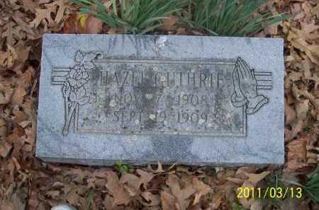 GUTHRIE, HAZEL - Pope County, Arkansas   HAZEL GUTHRIE - Arkansas Gravestone Photos