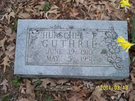GUTHRIE, HURSCHEL F. - Pope County, Arkansas   HURSCHEL F. GUTHRIE - Arkansas Gravestone Photos