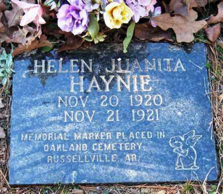 HAYNIE, HELEN JUANITA - Pope County, Arkansas | HELEN JUANITA HAYNIE - Arkansas Gravestone Photos