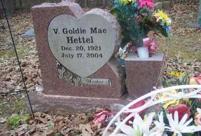 HETTEL, V. GOLDIE MAE - Pope County, Arkansas | V. GOLDIE MAE HETTEL - Arkansas Gravestone Photos