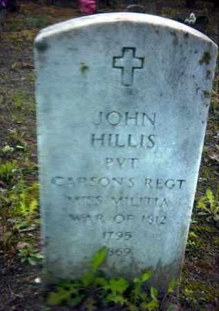 HILLIS (VETERAN 1812), JOHN - Pope County, Arkansas | JOHN HILLIS (VETERAN 1812) - Arkansas Gravestone Photos