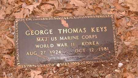 KEYS  (VETERAN 2 WARS), GEORGE THOMAS - Pope County, Arkansas   GEORGE THOMAS KEYS  (VETERAN 2 WARS) - Arkansas Gravestone Photos