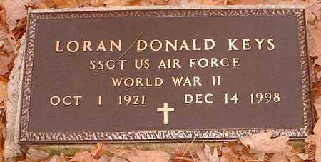 KEYS  (VETERAN WWII), LORAN DONALD - Pope County, Arkansas | LORAN DONALD KEYS  (VETERAN WWII) - Arkansas Gravestone Photos