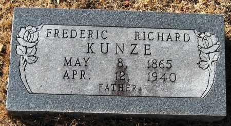 KUNZE, FREDERIC RICHARD - Pope County, Arkansas   FREDERIC RICHARD KUNZE - Arkansas Gravestone Photos