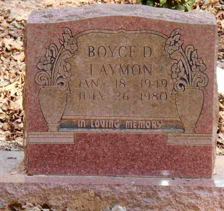 LAYMON, BOYCE D - Pope County, Arkansas   BOYCE D LAYMON - Arkansas Gravestone Photos